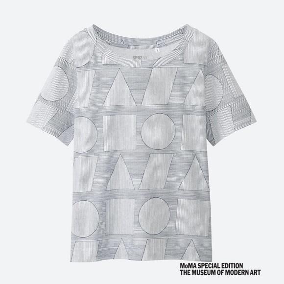 cb1dd330d68 Uniqlo Tops | Sol Lewitt Moma Cropped Geometric Tshirt | Poshmark